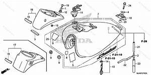 Honda Motorcycle 2017 Oem Parts Diagram For Fuel Tank