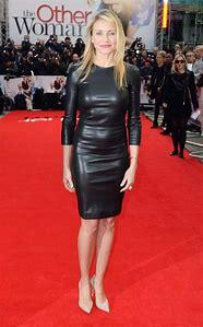 Cameron Diaz Leather Dress