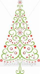 contempory christmas tree clipart - Clipground