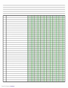 Printable Bill Of Sale Car Columnar Paper With Six Columns On Letter Sized Paper In