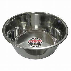 Stainless Steel Dog Food/Water Bowl 5 Qt - Dog Bowls and ...