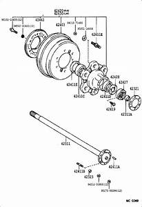 Toyota 4runner Case  Rear Axle Bearing  Suspension  Brakes