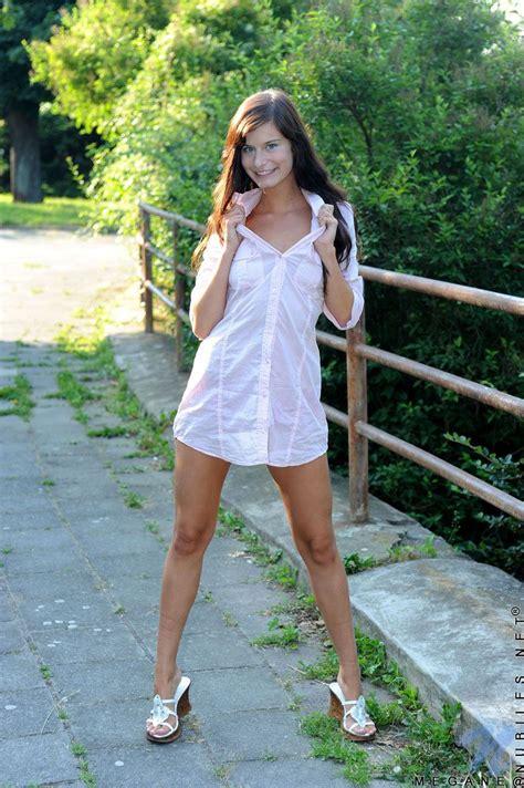 Cute Nn Teens Teen Megane In Heels And Mini Dress Loves Flashing Pink Undies Outdoor A