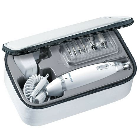 beurer manicure pedicure kit powerful electric nail drill  attachments  ebay
