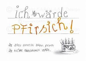 14 Geburtstag Feiern Ideen : einladungskarten einladung 40 geburtstag pfirsich ein designerst ck von cardlaan bei dawanda ~ Frokenaadalensverden.com Haus und Dekorationen