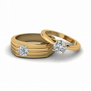 solitaire diamond matching wedding anniversary rings for With anniversary wedding rings