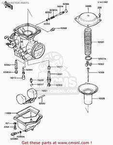 Kawasaki Kz305a1 Csr 1981 Usa Carburetor Parts