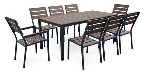 Ensemble Table Et Chaise De Jardin Aluminium Salon De