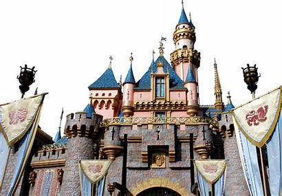 Castle Disney Transparent Sleeping Disneyland Wikipedia Beautys