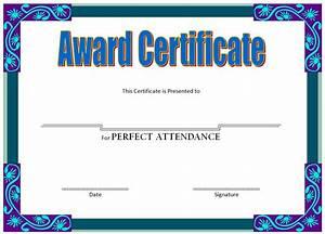 Perfect Attendance Certificate Template Perfect Attendance Certificate Template Image Collections Template Design Ideas