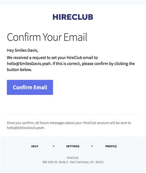 confirmation  good emails
