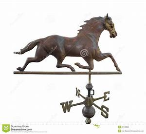 Old Metal Weather Vane With A Horse Isolated. Stock Photo ...