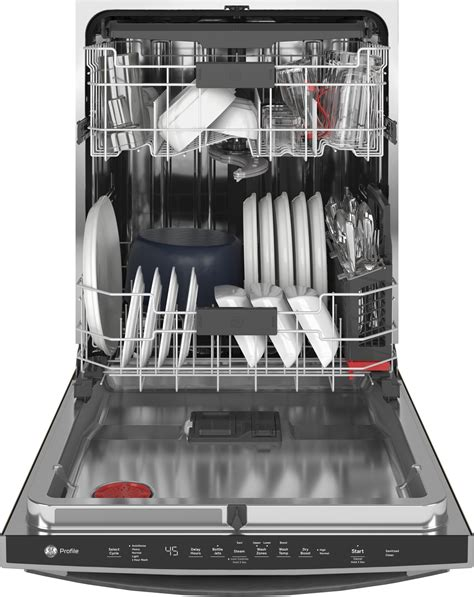 ge profile pdtsmnes   built  dishwasher  db slate