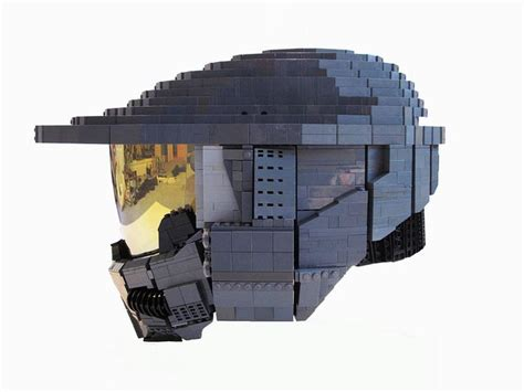 life size wearable lego halo master chief helmet  ben