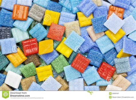 colorful glass mosaic tiles stock image image 26983451