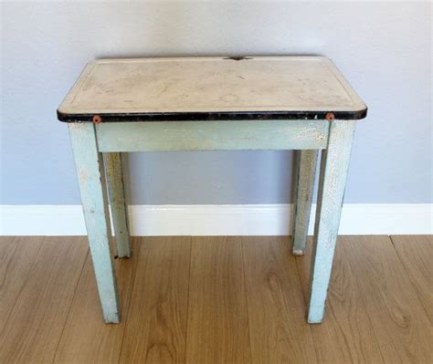 1930 enamel kitchen table rare vintage wooden painted table with enamel top 1920s