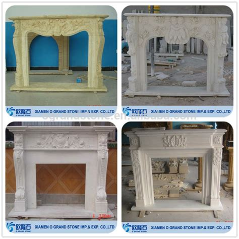 composite fireplace white granite wood burning composite artificial