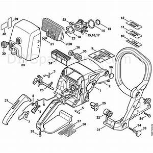 Stihl 029 Chainsaw  029  Parts Diagram  Handle Housing