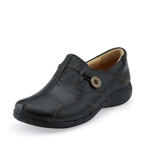 comfortable shoes for clarks un loop black leather casual comfort shoe