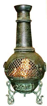 Gatsby Chiminea by Blue Rooster Alch016gk Ch Gatsby Cast Aluminum