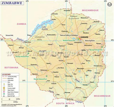 zimbabwe map httpwwwmapsofworldcom pinterest