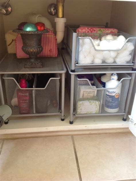under cabinet storage ideas o is for organize under the bathroom sink