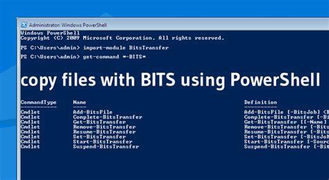 copy files  bits  powershell theitbros