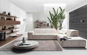 deco salon blanc pour un interieur lumineux et moderne With couleur pour salon moderne 1 table de salon transformable couleur bois et blanc
