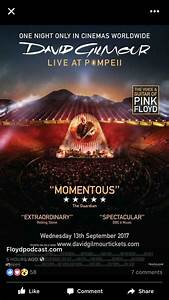 David Gilmour - Live at Pompeii. Sept 13th 2017 : pinkfloyd