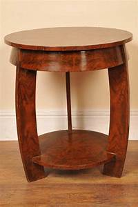 Art, Deco, Walnut, Side, Table, Occassional