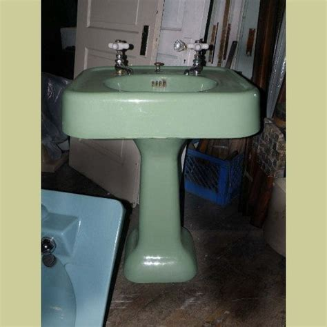 How Much Is A Pedestal Sink by Vintage Pedestal Sink Green Cast Iron Porcelain Bath Room