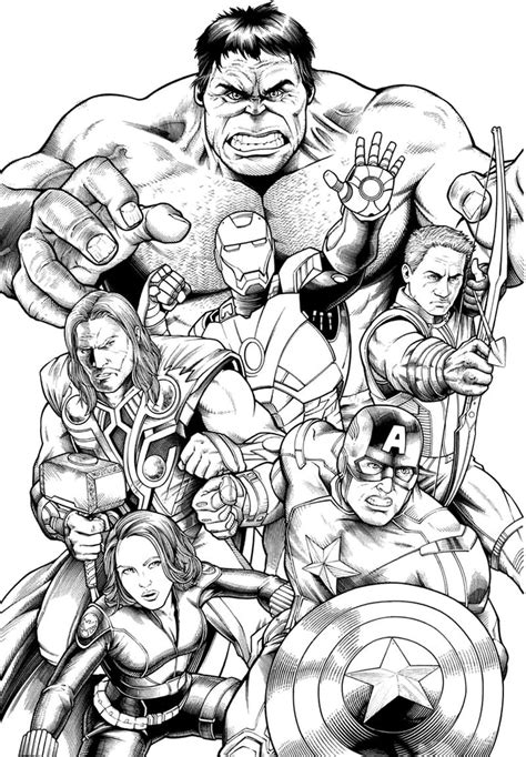 avengers superhero coloring pages coloring sheets