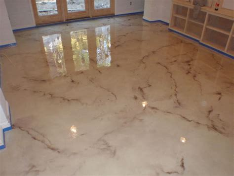 Floor Paint Marble by Epoxy Floors Gallery Kote Decorative Concrete