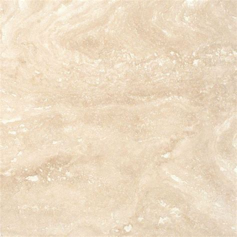 MSI Ivory 12 in. x 12 in. Honed Travertine Floor and Wall Tile (5 sq. ft. / case) THDIVORY1212HF