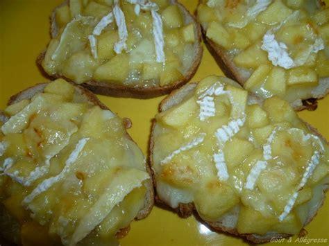 tartines de camembert au four