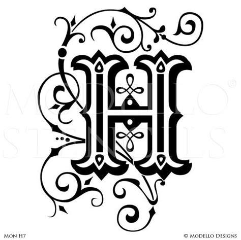 monogram stencils modello designs