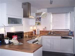 Deco cuisine blanc et bois cuisine pinterest photos for Deco cuisine avec chaise blanche de cuisine