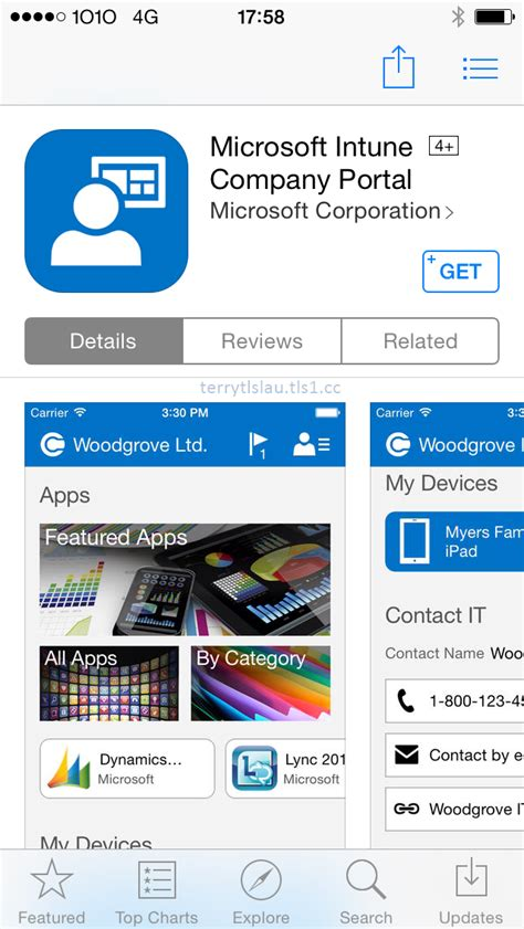comp portal intune device app then terry agent insert launch user microsoft