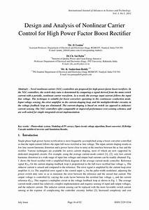 Pdf  Design And Analysis Of Nonlinear Carrier Control For
