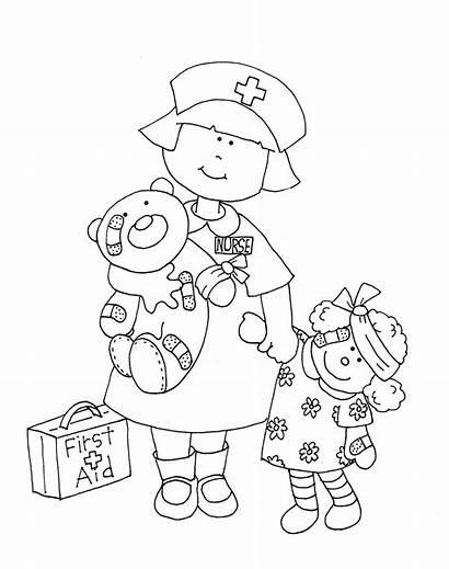 Nurse Coloring Pages Preschool Dolls Printable Lil