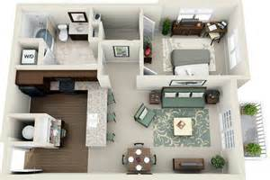 800 Sq FT One Bedroom Apartment Floor Plans