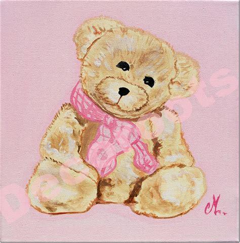chambre pour bebe fille tableau enfant bébé fille oursonne marche personnalisable