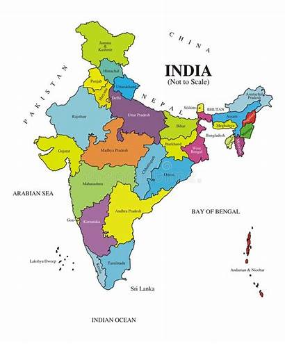 India Map Labeled Authentic Asia Voided Facts