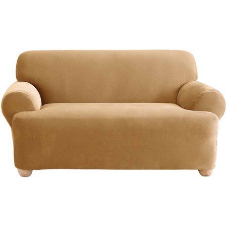 Loveseat Cover Walmart by Sure Fit Stretch Pique Sofa Slipcover Walmart