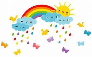 Regenbogen Tapete Kinderzimmer : wandsticker kinderzimmer lustige sonne regenbogen miyo mori ~ Sanjose-hotels-ca.com Haus und Dekorationen