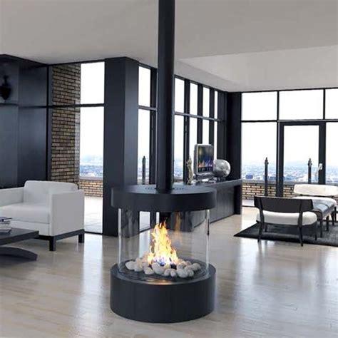 ortal circle  circular glass fireplace simple