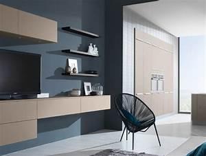Meuble Salon Moderne : meuble de salon pour cuisine ouverte harmonie ~ Premium-room.com Idées de Décoration