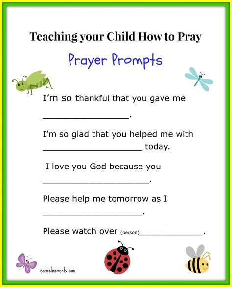 teaching  child   pray