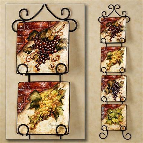 Grape Wall Decor For Kitchen by Wine Cellar Square Dessert Plate Set