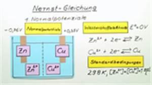 Elektrodenpotential Berechnen : grundlagen der elektrochemie chemie online lernen ~ Themetempest.com Abrechnung